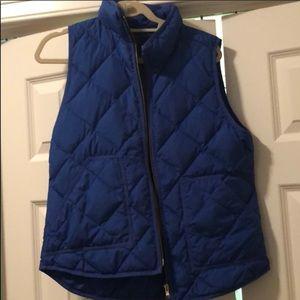 Royal blue j.crew vest